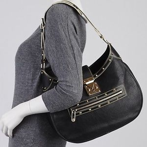 🌟RARE🌟 leather studded hobo Louis Vuitton